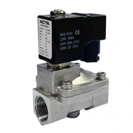 Клапаны соленоидные из нержавеющей стали АСТА серии ЭСК 600-601 пилотное управление
